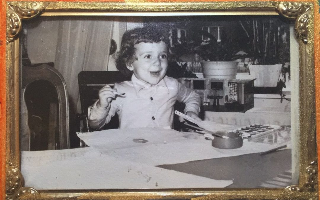 me as a child, being creative making art without fear of mistakes