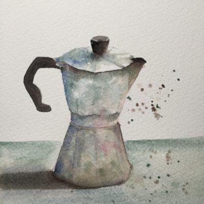 Bialetti coffee pot, classic Italian design