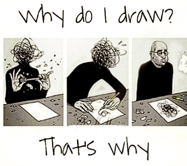 Drawing changes lives. Why do I draw?