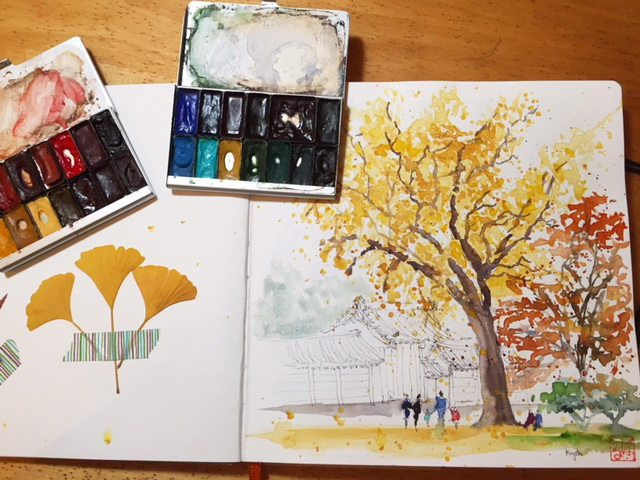 Painting autumn colors in Kyoto – give it a try!