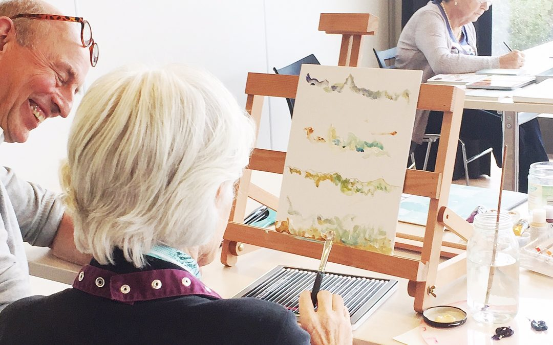 Artworkshop in care home for people with dementia