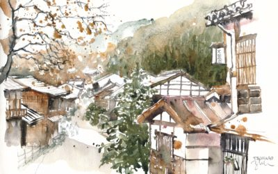 Sketching Japan