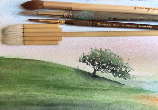 """How to"" or my way to paint a watercolor Landscape"