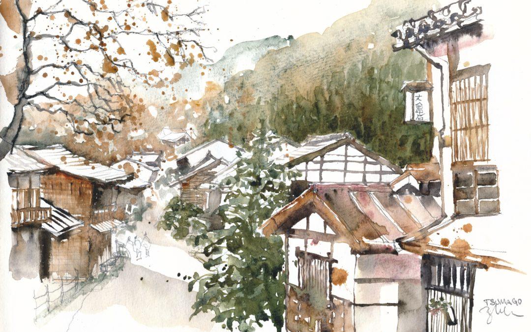 tsumago watercolour