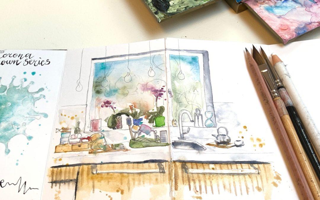 #CREATE Corona sketchbook 2